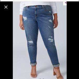 LOWEST‼️NEW Lane Bryant Boyfriend Roll Cuff Jeans